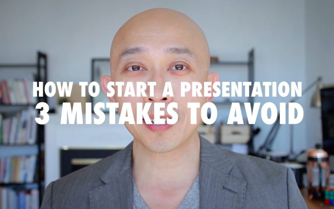 How to Start a Presentation – Mistakes to Avoid [VIDEO]