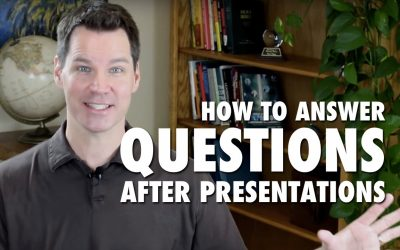 How to Answer Questions After Presentations