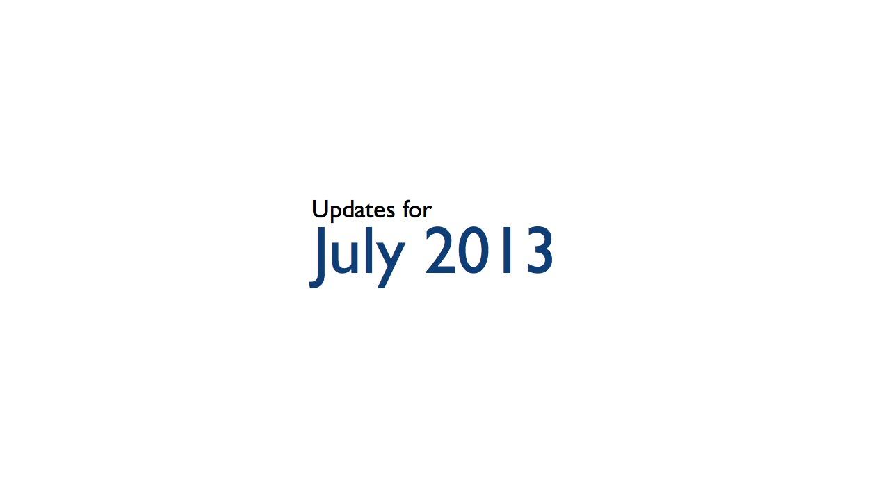 July 2013 Presentation Tips