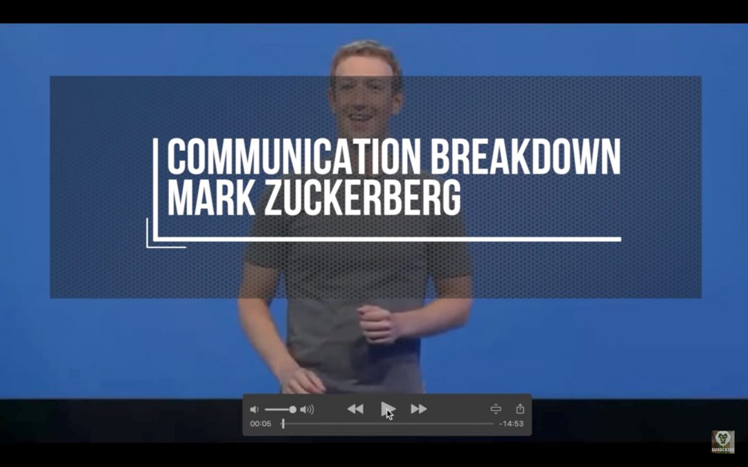Mark Zuckerberg Presentation Skills Breakdown