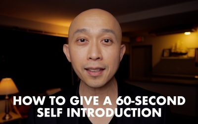 How to Give a 60 Second Self-Introduction Presentation [VIDEO]