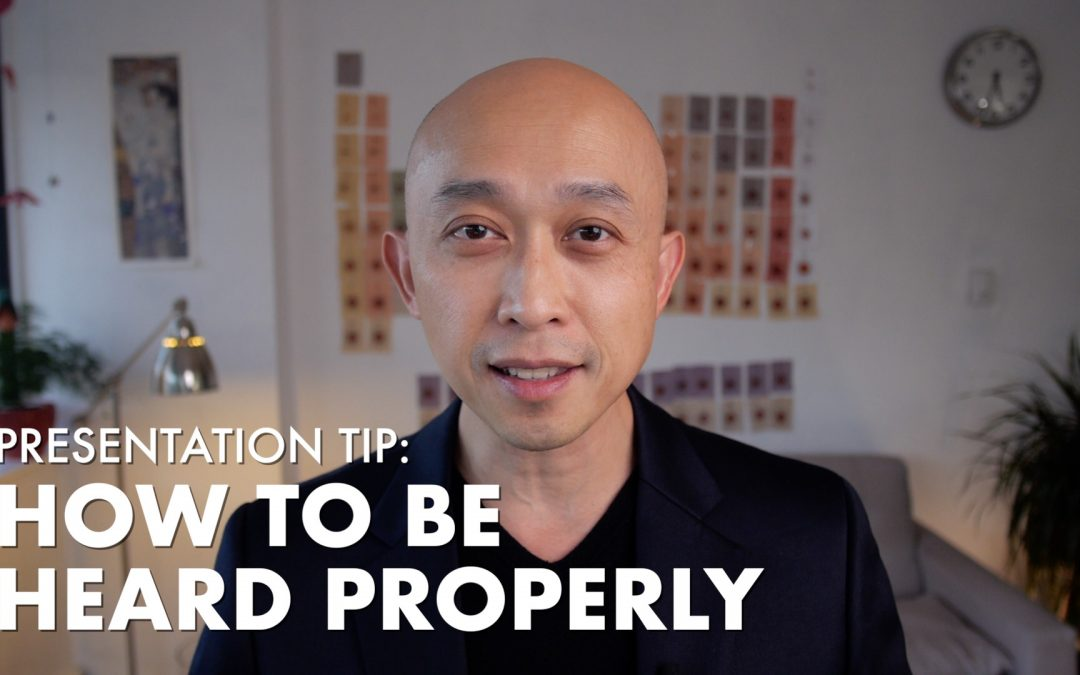 Presentation Tip – How to Be Heard Properly [VIDEO]